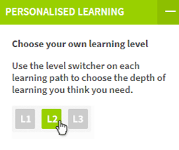 Personalised learning journey